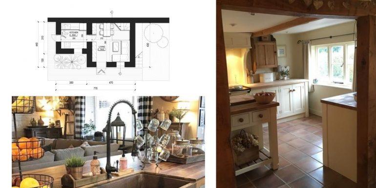 rendering cucina + living