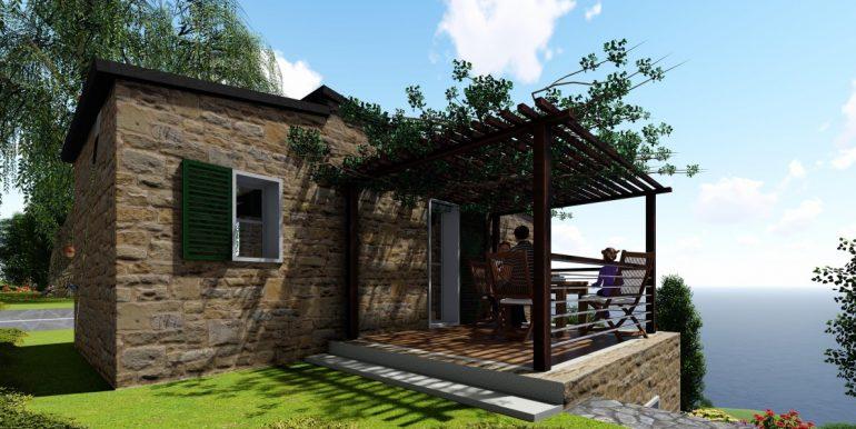 rendering veranda