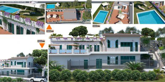 Villetta e nuova costruzione a San Lorenzo della Costa, SML